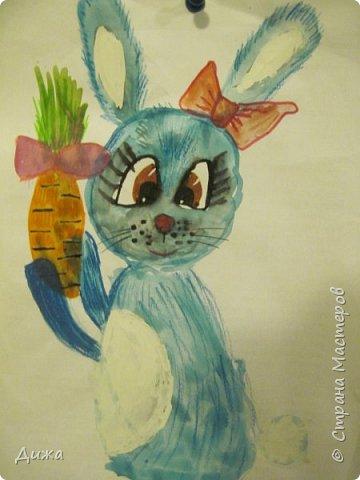 Привет всем! Вот такого зайчонка, нарисовала я на днях. фото 2
