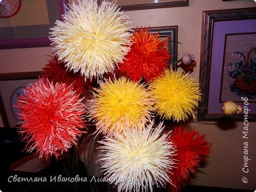 Лет 15 назад я оказалась на выставке, там  увидела эти цветочки и прошла мимо, не обратив на них внимания. Была 100 процентная уверенность, что они живые, подумала, что кому-то подарили живой букет. Прошло  какое-то время  и случайно я узнала, что это были цветы из салфеток.  Как я была удивлена! Через организаторов выставки я узнала адрес мастера. Им оказалась бабушка из дома для престарелых. Договорилась по телефону с директором данного заведения и поехала на встречу с ней. Встретилась и бабуля рассказала свою историю. что благодаря этим цветам она много лет выживала в этом мире, меняла, продавала, дарила, учила... И мне подарила  три цветочка и показала, как их делать. Счастливая я поехала домой и так началась моя история: с тех пор я делаю  и делаю эти цветы,  правда, не продаю их, а дарю. Сейчас же попробую показать вам, и, может быть,  у кого-то из вас начнется своя история  любви к данному цветочку. фото 27