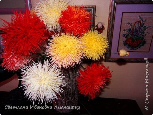 Лет 15 назад я оказалась на выставке, там  увидела эти цветочки и прошла мимо, не обратив на них внимания. Была 100 процентная уверенность, что они живые, подумала, что кому-то подарили живой букет. Прошло  какое-то время  и случайно я узнала, что это были цветы из салфеток.  Как я была удивлена! Через организаторов выставки я узнала адрес мастера. Им оказалась бабушка из дома для престарелых. Договорилась по телефону с директором данного заведения и поехала на встречу с ней. Встретилась и бабуля рассказала свою историю. что благодаря этим цветам она много лет выживала в этом мире, меняла, продавала, дарила, учила... И мне подарила  три цветочка и показала, как их делать. Счастливая я поехала домой и так началась моя история: с тех пор я делаю  и делаю эти цветы,  правда, не продаю их, а дарю. Сейчас же попробую показать вам, и, может быть,  у кого-то из вас начнется своя история  любви к данному цветочку. фото 28