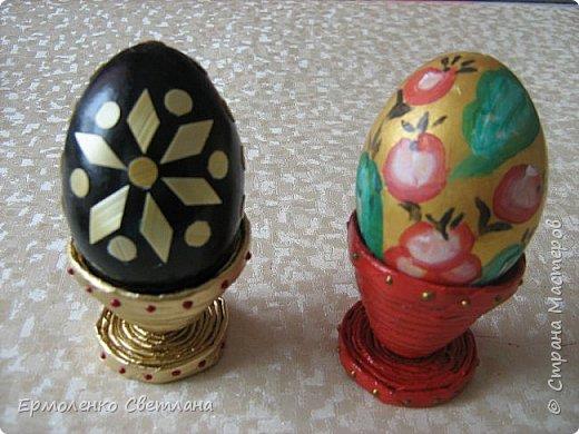 """Доброго времени суток уважаемые жители """"Страны Мастеров"""". Предлагаю вам приготовить к Пасхе с детьми небольшие сувениры. Подставочки для пасхальных яиц из газетных трубочек. фото 6"""