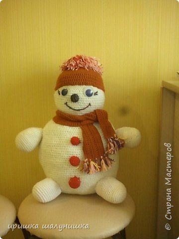 веселый снеговик,заняли 1 место