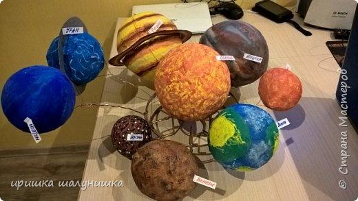 макет солнечной системы в садик