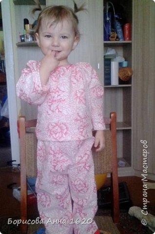 Решила сшить дочке пижаму, долго думала как и, наконец, придумала. Хочу поделиться результатом. фото 1