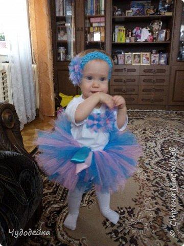 Вот такой наряд я сделала дочке на первый день рождения. фото 1