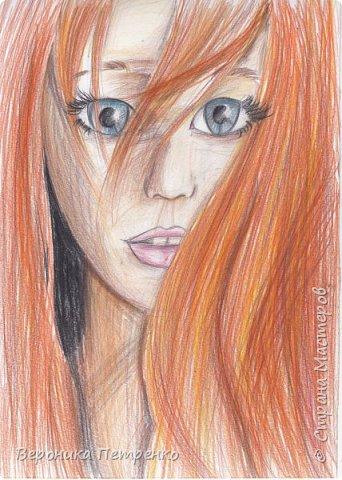 Рыжик,нарисовано цветными карандашами. фото 1