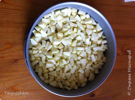 Добрый вечер,дорогие жители страны!  Сегодня, хочу поделиться рецептом яблочного пирога.Прошлой осенью, на работу привезли 2 огромные коробки яблок. Мы их и ели, и джем варили, и яблочное пюре делали, и целый месяц в выходные пекли этот пирог с ребятишками:))) фото 8