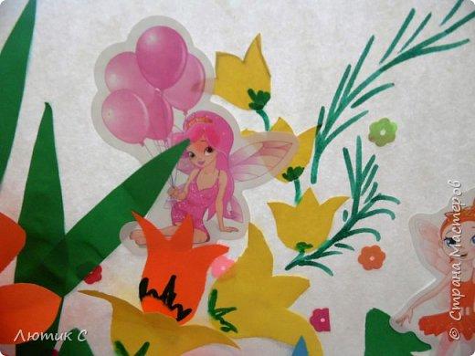 Ко дню рождения детского сада мы с дочкой (6 лет) приготовили  вот такую аппликацию . фото 3