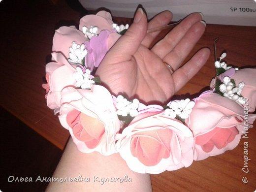 ободок с розами из зефирного фома фото 1