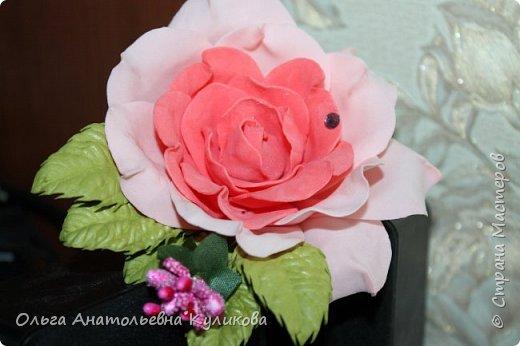 ободок с розами из зефирного фома фото 6