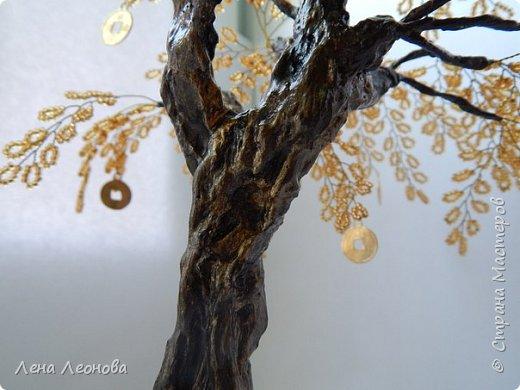 Здраствуйте мастера и мастерицы. Снова у меня денежные деревья. В этот раз сделала в золотом цвете. Бисер чешский. Делались на одном дыхании. фото 7