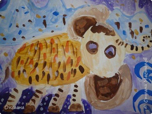 Рисовали с детьми 5-6 лет мамонтов . Образец фото 12