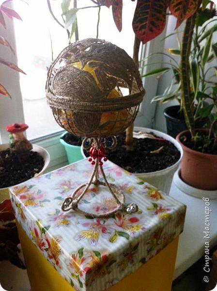 Вот такой глобус-конфетница у меня получился на этот раз. фото 1