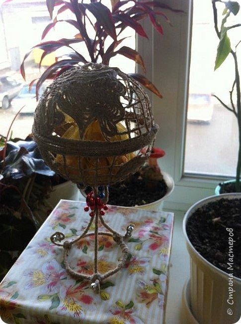 Вот такой глобус-конфетница у меня получился на этот раз. фото 2