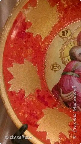 декупаж и декор стеклянных прозрачных тарелок. фото 5