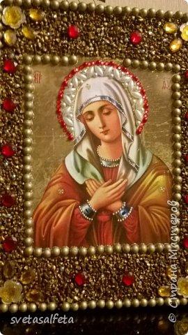 декупаж и декор божественных ликов на стеклянных тарелках и деревянных панно фото 2