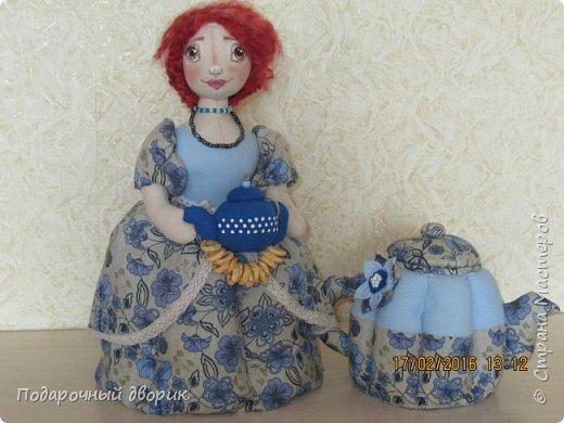 Комплект для кухни. Грелка на чайник и конфетница,в виде текстильного чайника. фото 1