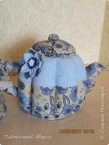 Комплект для кухни. Грелка на чайник и конфетница,в виде текстильного чайника. фото 8