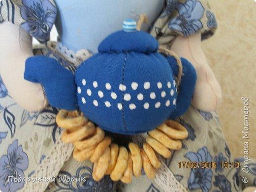 Комплект для кухни. Грелка на чайник и конфетница,в виде текстильного чайника. фото 6