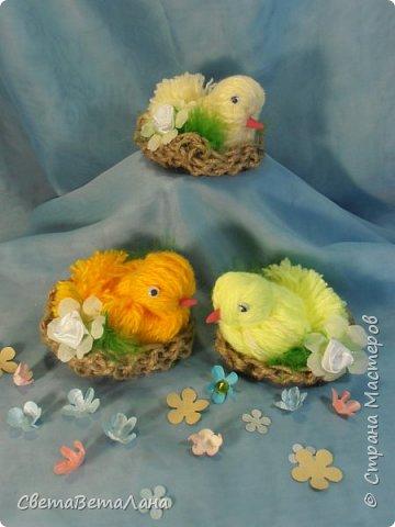 Родились к пасхе такие цыпы.........  ... птахи созданы по МК Оли ( BOLGA1110) http://stranamasterov.ru/node/827597..............   фото 1