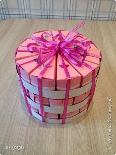 Здравствуйте. Сделали всей семьей старшей дочке на День рождения в школу такой торт в три этажа. фото 1