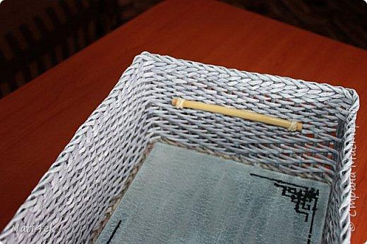 """Приветствую любимая страна!!! Сегодня покажу пару работ плетенных и немного картонажа на который я подсела в последнее время. И так.... Сплела сундучок """"Япония"""" все той-же подружке которая любит все японское.  За основу взяла МК Лолы http://stranamasterov.ru/node/922760 . Цвет """"эбеновое дерево"""" хорошо разведенное + патина.  фото 4"""