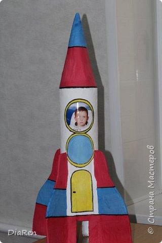 Вот такую ракету, мы сделали в детский сад))) фото 1