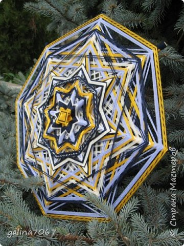 мандалы  8-луевые и 12 лучевые диаметр 50 - 60 см пряжа  акрил и хлопок фото 3
