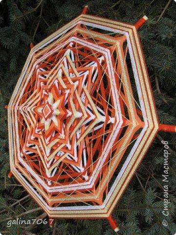 мандалы  8-луевые и 12 лучевые диаметр 50 - 60 см пряжа  акрил и хлопок фото 5