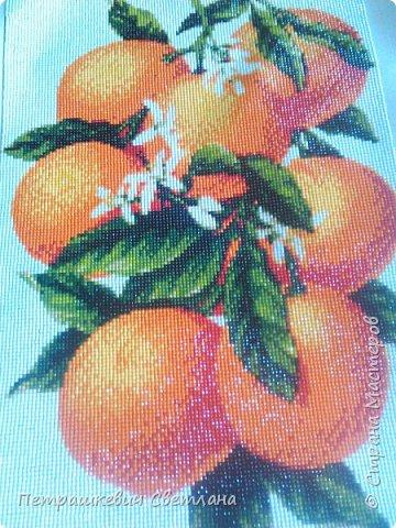 Всем привет! Вот увлеклась алмазной мозаикой))) Парочка работ Апельсинчики - 30*47 см фото 2