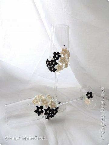 Свадебные бокалы ручной работы. фото 1