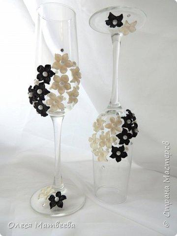 Свадебные бокалы ручной работы. фото 2