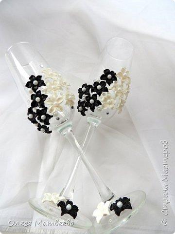 Свадебные бокалы ручной работы. фото 3