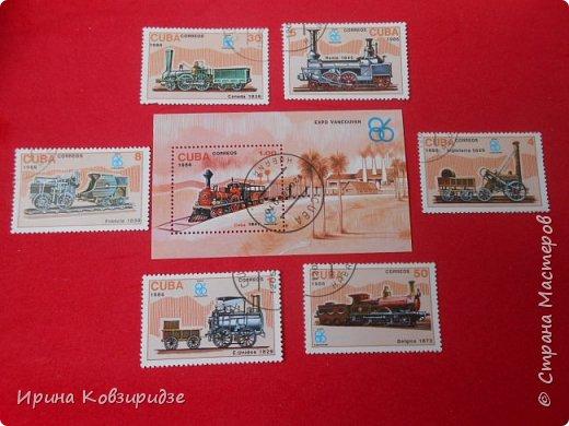 """Сегодня я предлагаю вашему внимани. серию """"Железная дорога"""". Это кубинские марки. фото 3"""