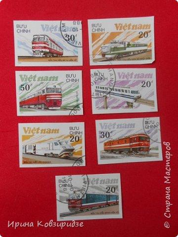 """Сегодня я предлагаю вашему внимани. серию """"Железная дорога"""". Это кубинские марки. фото 15"""