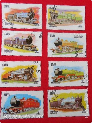 """Сегодня я предлагаю вашему внимани. серию """"Железная дорога"""". Это кубинские марки. фото 18"""