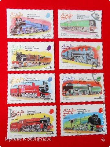 """Сегодня я предлагаю вашему внимани. серию """"Железная дорога"""". Это кубинские марки. фото 19"""