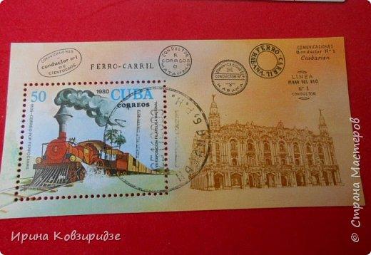 """Сегодня я предлагаю вашему внимани. серию """"Железная дорога"""". Это кубинские марки. фото 4"""