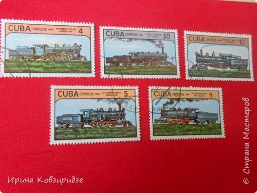 """Сегодня я предлагаю вашему внимани. серию """"Железная дорога"""". Это кубинские марки. фото 11"""
