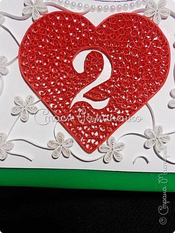 """Дорогие мастерицы представляю Вам работу, которую я делала в подарок мужу на вторую годовщину нашей свадьбы. На """"бумажную"""" свадьбу и подарок из бумаги. Хотелось сделать что-то нежное, воздушное ну и, конечно, памятное. Рамка, правда, пока самая простая, но это временно )) фото 6"""