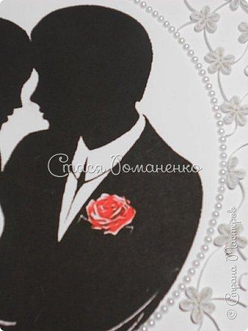 """Дорогие мастерицы представляю Вам работу, которую я делала в подарок мужу на вторую годовщину нашей свадьбы. На """"бумажную"""" свадьбу и подарок из бумаги. Хотелось сделать что-то нежное, воздушное ну и, конечно, памятное. Рамка, правда, пока самая простая, но это временно )) фото 4"""