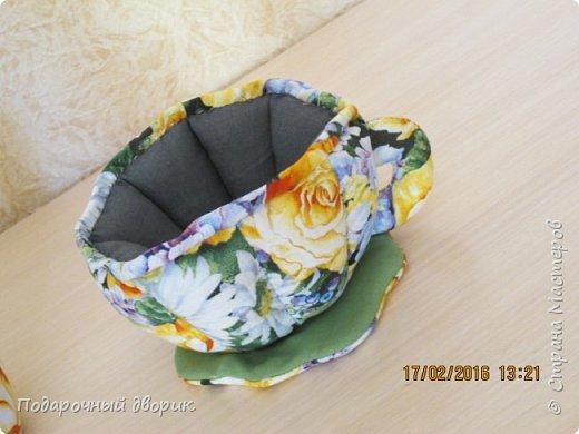 Текстильный чайник и чашечка. фото 4