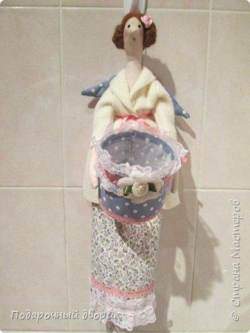 Тильды-Хранительницы ватных дисков и палочек. фото 9