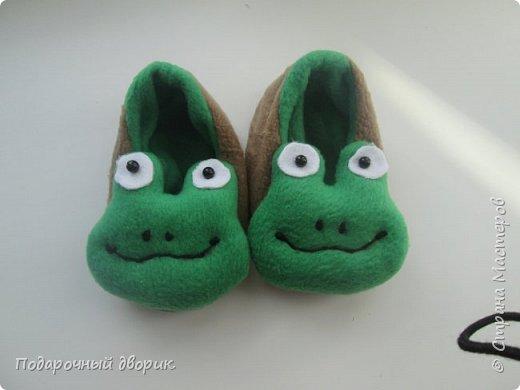Тапочки детские-лягушата. фото 1