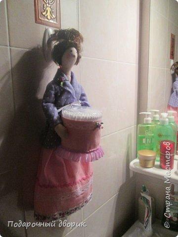 Тильды-Хранительницы ватных дисков и палочек. фото 15