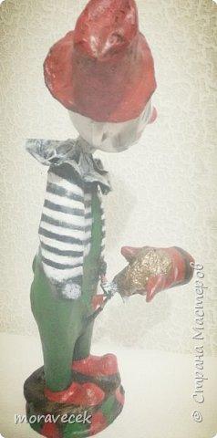 Клоун с лошадкой. Ростом 45-50 см. Папье маше, акриловые краски фото 2