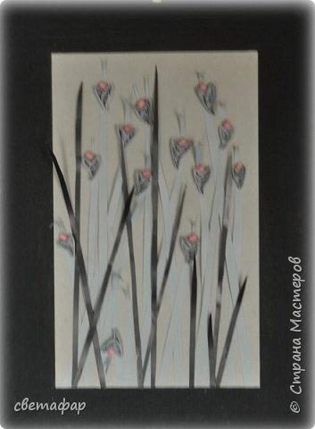 Все  показанные  работы, это  попытка освоить  много разных вещей ,  не только технику  квиллинга , но и композицию, подборку цветов и т.д.  фото 5
