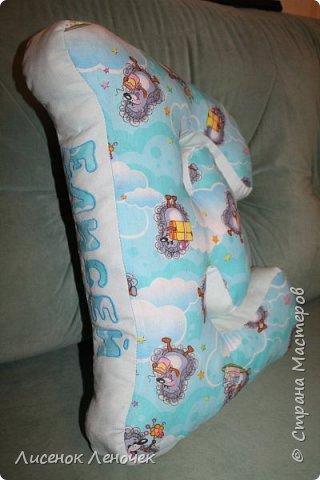 Сшила я все-таки свою первую подушку - букву старшенькому.  фото 6
