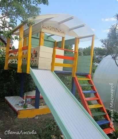 Чтобы занять детей летом, соорудили им такой домишко! фото 1