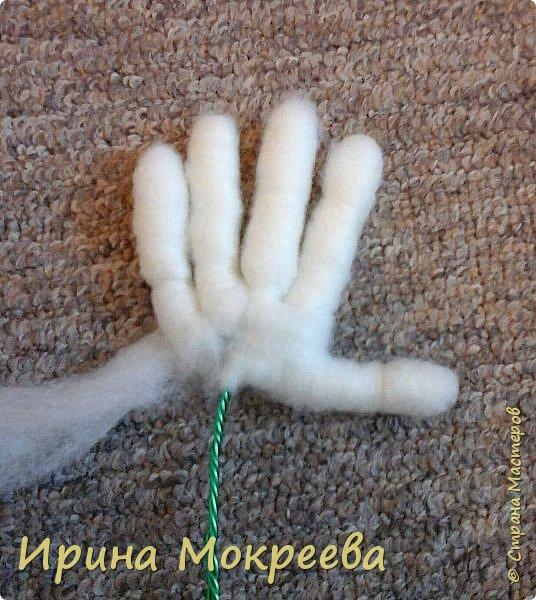Добрый день жители страны мастеров хочу поделиться моим опытом по изготовлению ручек для капроновых кукол. фото 14