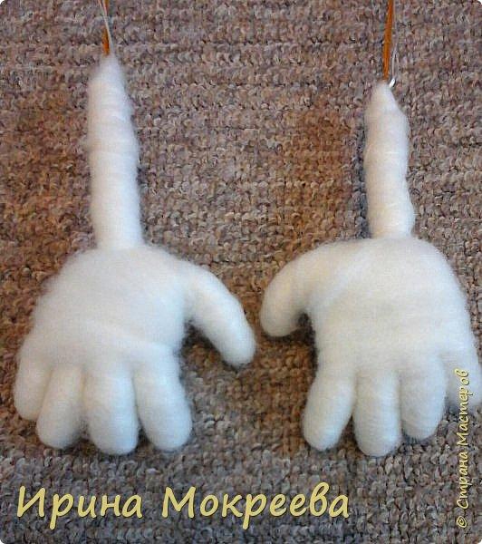 Добрый день жители страны мастеров хочу поделиться моим опытом по изготовлению ручек для капроновых кукол. фото 18